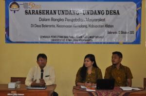 Acara Sarasehan Undang-undang Desa